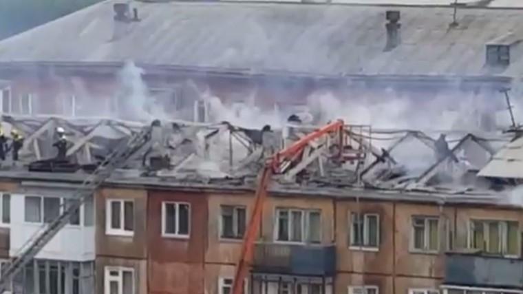 открытое горение ликвидировано центре кемерово продолжают тушить пятиэтажку