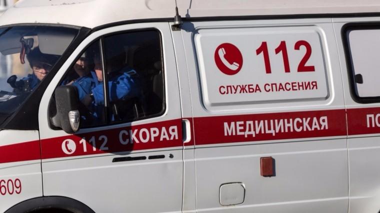 Карета скорой помощи спациентом перевернулась вМоскве