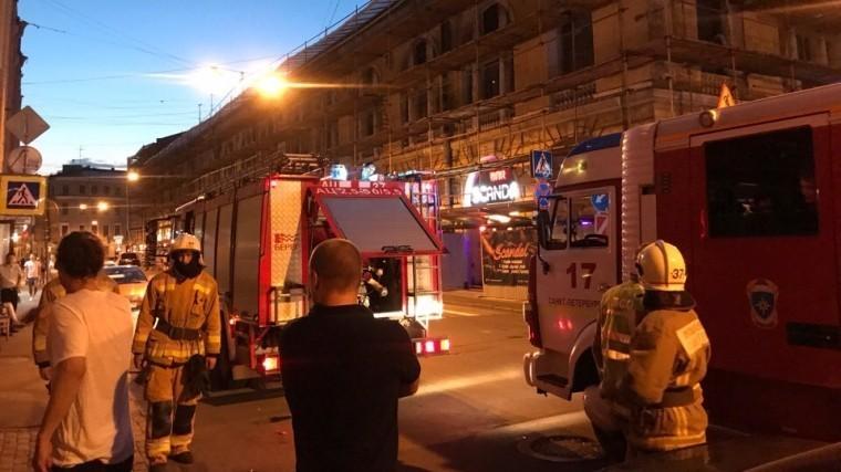 Очевидцы: вбаре наулице Думской вПетербурге вспыхнул пожар