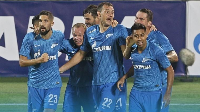 Ликующие фанаты станцевали сфутболистами петербургского «Зенита» после триумфа