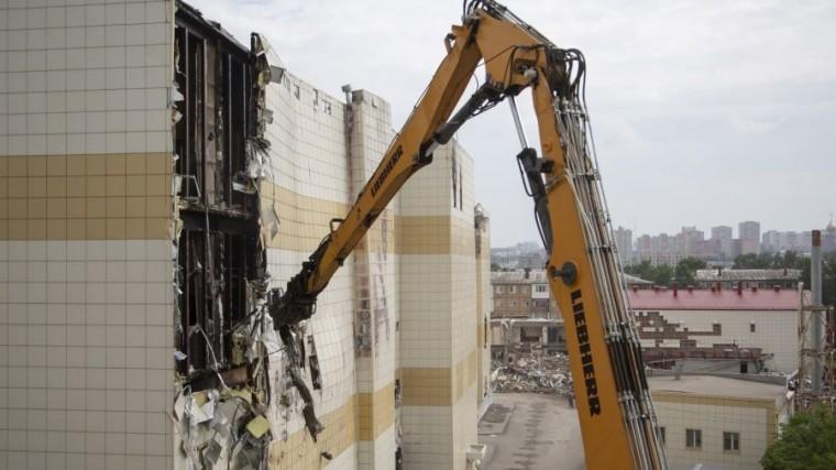 зимней вишни кемерово полностью снесли сгоревший торговый центр