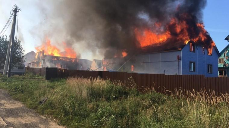 подмосковье пожар едва уничтожил поселок