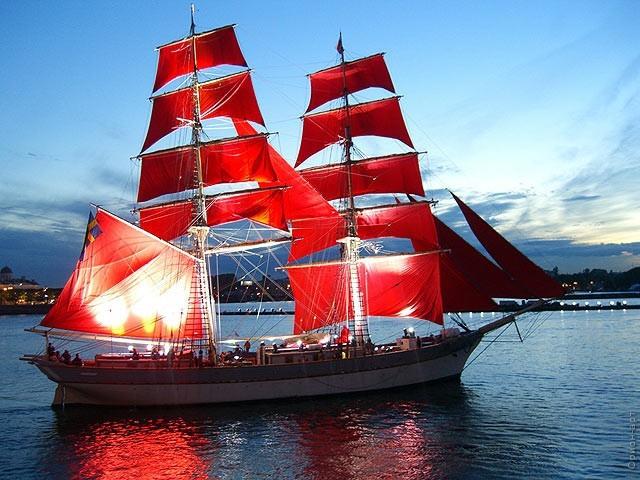 корабль алые паруса картинки
