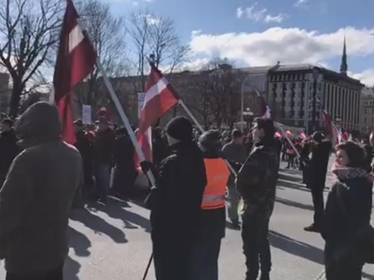ВРиге состоялось шествие впамять легионеров «Ваффен СС»