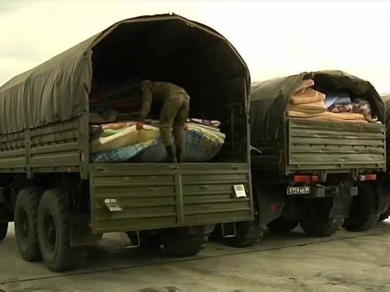 Минобороны опубликовало кадры доставки гумпомощи вВосточную Гуту