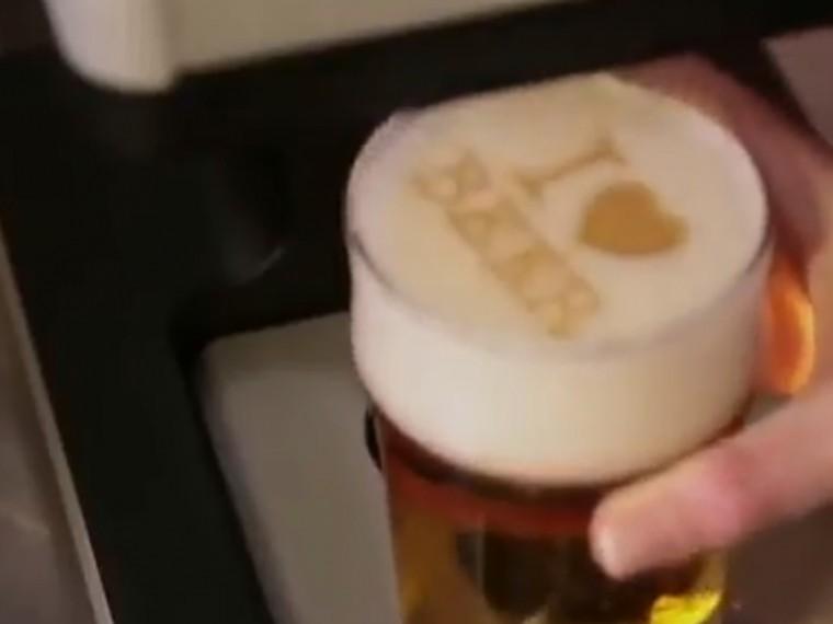 ВСША представили навидео первый вмире пивной принтер