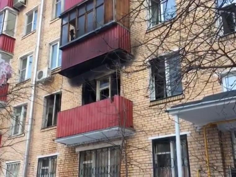 Пятый канал публикует видео сместа смертельногопожара наюге Москвы