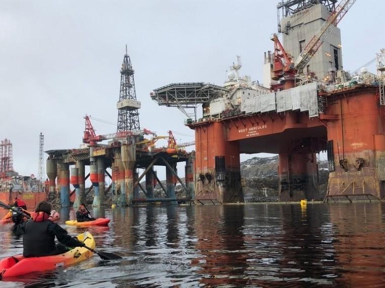 «Гринпис» снова хочет помешать отплытию борта, который собирается вАрктику для добычи нефти