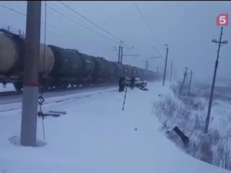Volkswagen столкнулся сгрузовым поездом вБашкирии