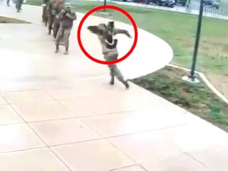 Американские солдаты струдом отбились отзлобного гуся— опубликовано видео дерзкого нападения