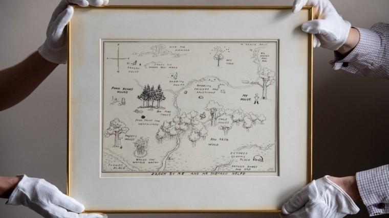 Карту к книге про Винни-Пуха продали на аукционе Sotheby's за $570 тыс