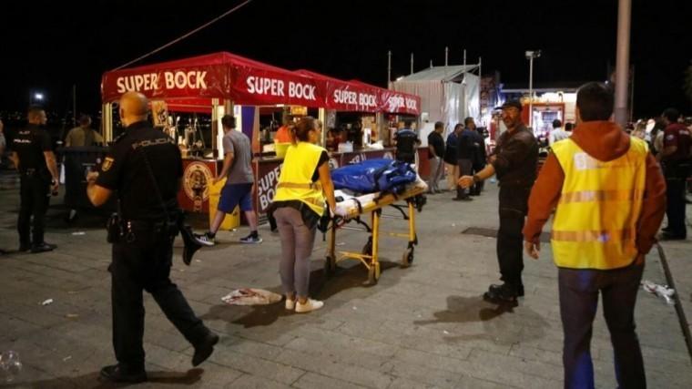 Более130 человек пострадали вИспании при обрушении причала наконцерте